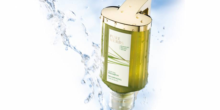 Seifenspender mit Pure Herbs Hair & Body Shampoo